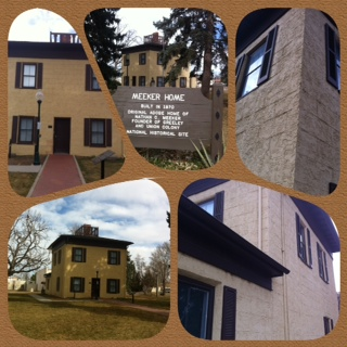 collage of Meeker House 2012