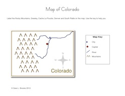 colorado map with key sheet