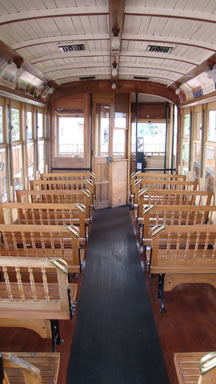 trolley car seating