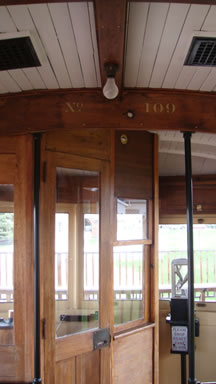 entrance to trolley car