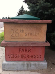 Farr Neighborhood Marker