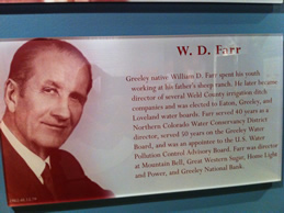 W.D. Farr display at Greeley History museum