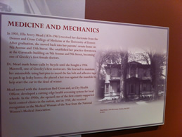 Display about Dr. Ella Mead Greeley History Museum