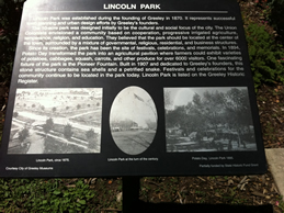 Sign telling about Lincoln Park