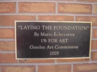 plaque about the artwork