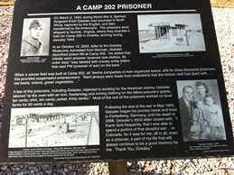 Sign about one of the prisoners