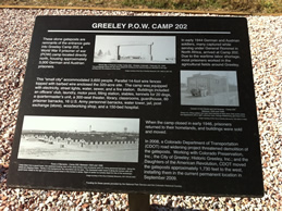 Sign about the camp