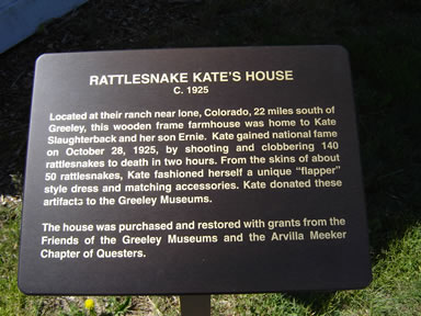 rattlesnake kate home sign